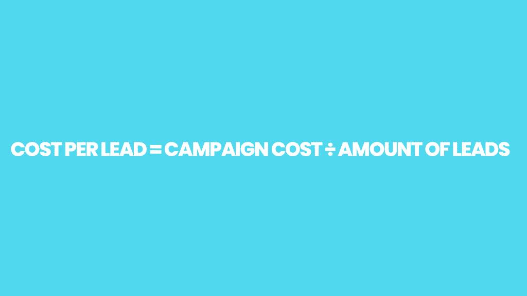 Cost-Per-Lead-Formula